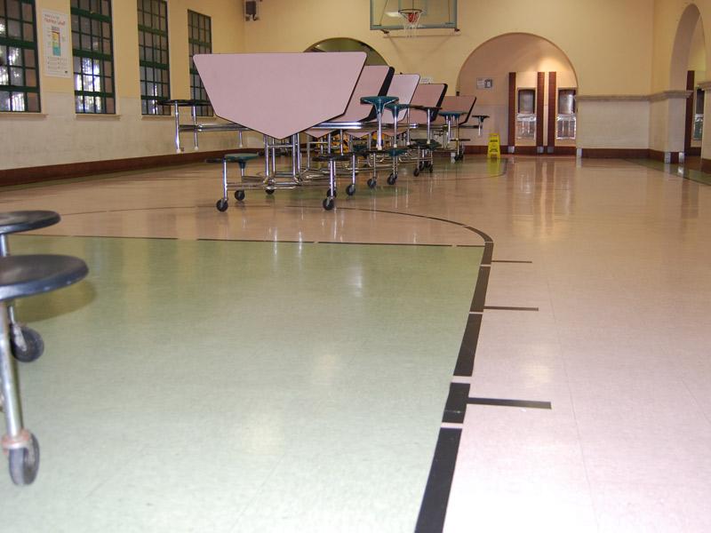 Vinyl composition tile - Basketball designed floor