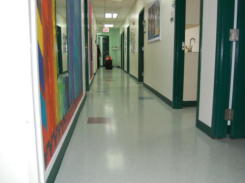 Vinyl composition tile - Random color pattern