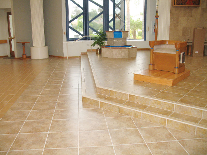 Corpus Christi Church - Patterned 18 X 18 Travertine tile