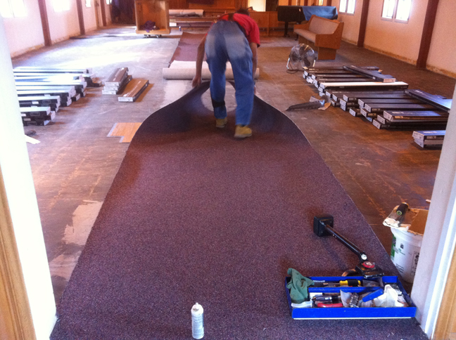 St James Church By The Sea - Installation of new flooring, carpet and laminate tile