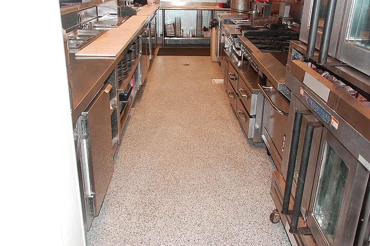 The Merk Restaurant San Diego - Commercial epoxy floor