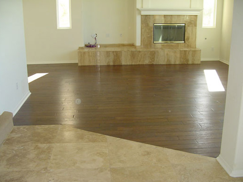 Socal Flooring And Carpet Travertine Latte with Walnu