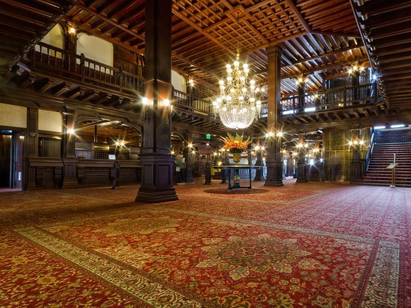 Carpeted Lobby at Hotel Del Coronado