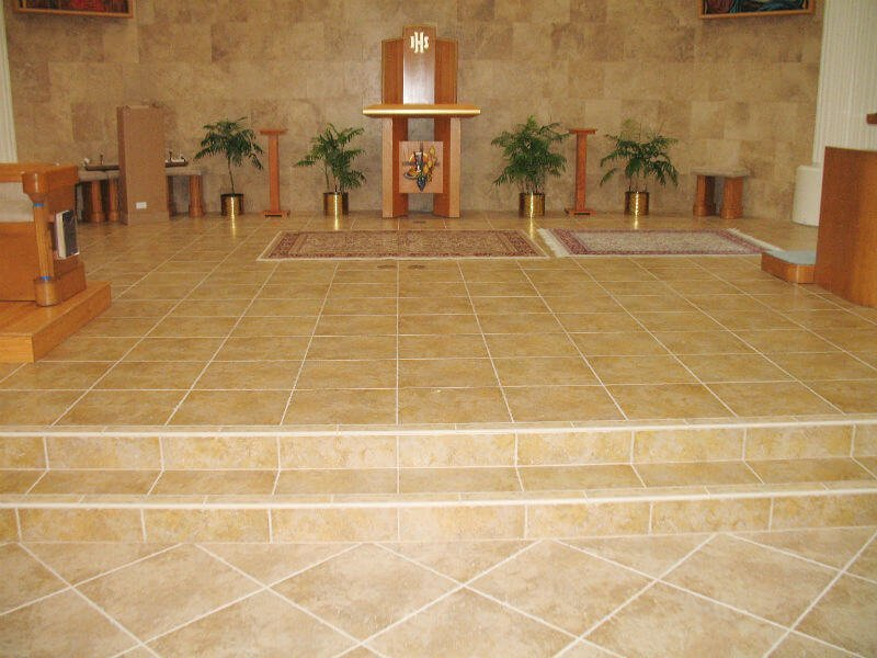 Tiled Flooring for Corpus Christi Church Alter