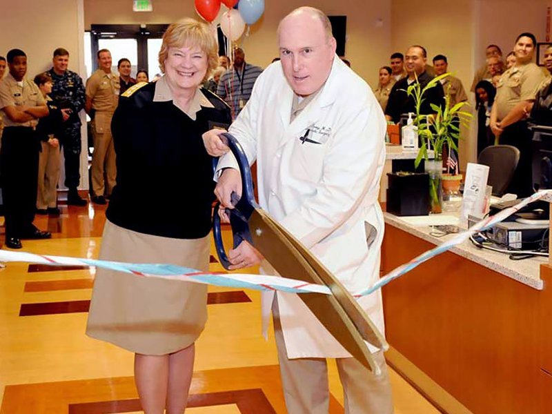 New Flooring at Ribbon Cutting Ceremony for US Navy Balboa Medical Hospital